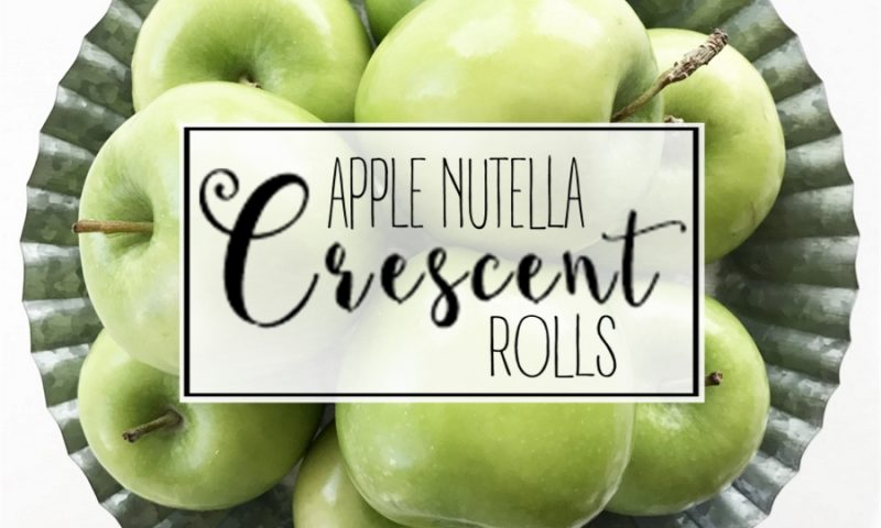 Apple Nutella Crescent Rolls