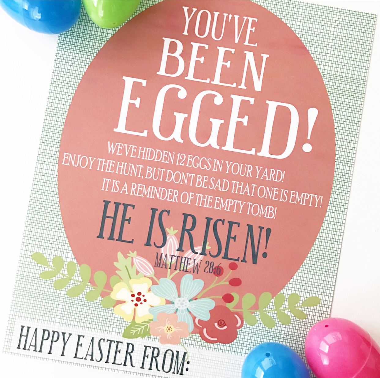 image about You've Been Egged Printable called Youve Been Egged!! - Crisp Collective