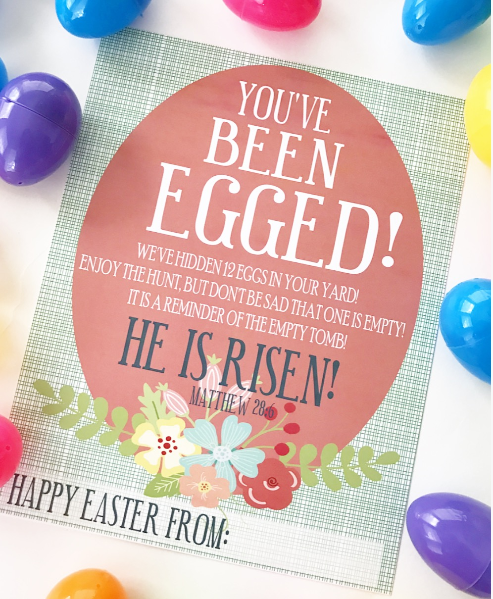 picture regarding You've Been Egged Printable called Youve Been Egged!! - Crisp Collective