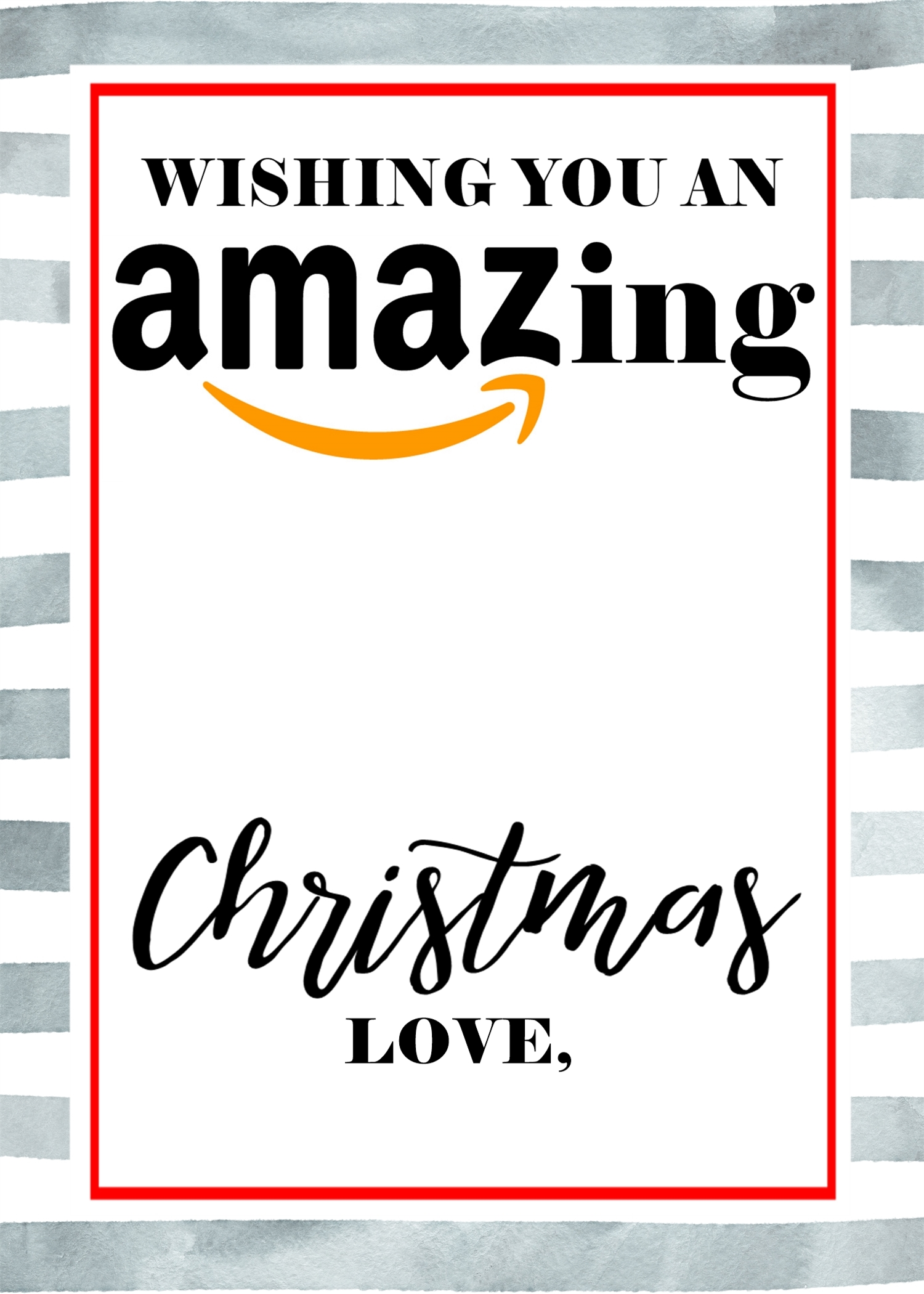 image relating to Amazon Gift Card Printable titled Xmas Present Card Holer Free of charge Printables - Crisp Collective