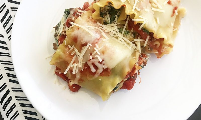 Lasagna Rolls:  My Favorite Make and Take Meal