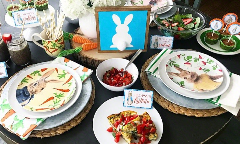 Bunny Breakfast 2018:  Easter Brunch Recipes and Peter Rabbit Printables