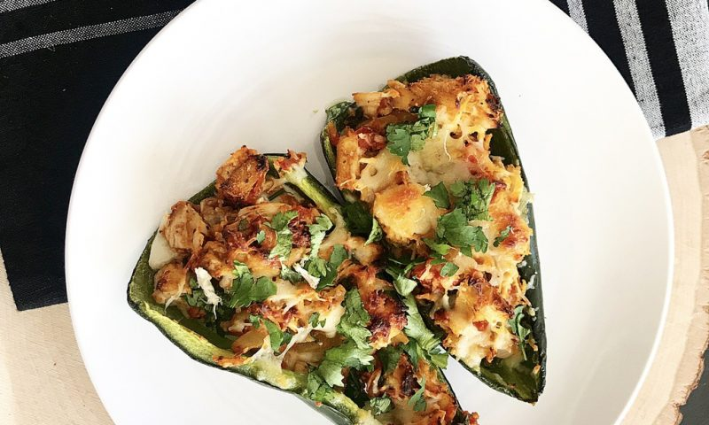 Stuffed Chicken Poblano Peppers