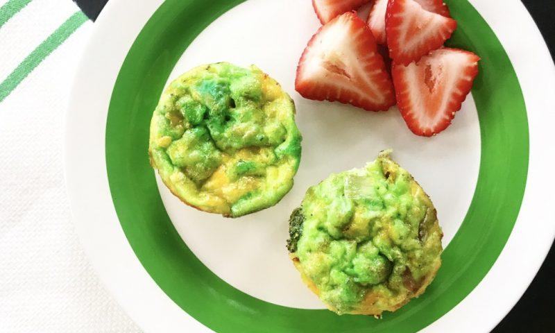 Green Eggs and Ham Mini Quiche