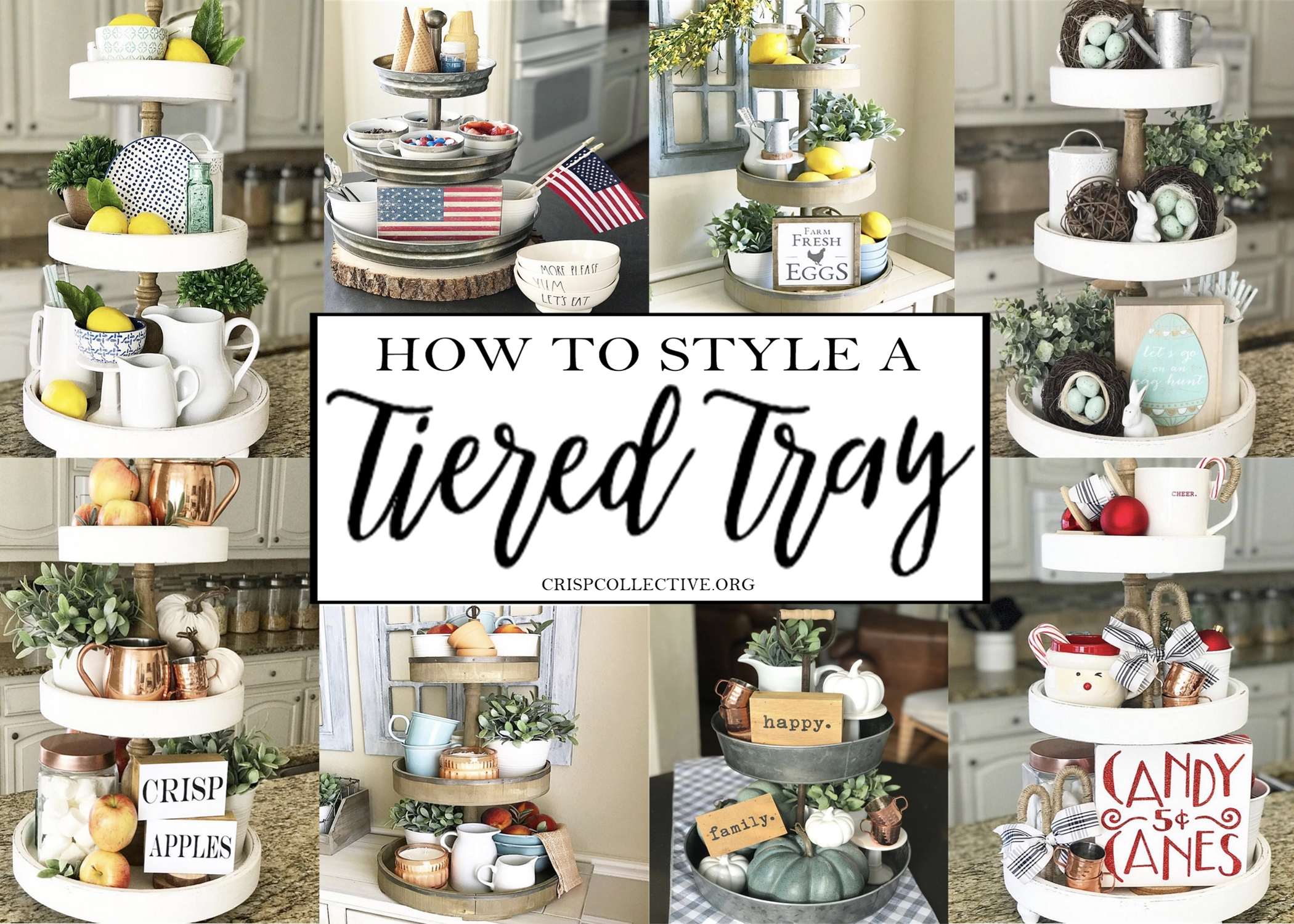 How To Style A Tiered Tray Crisp Collective