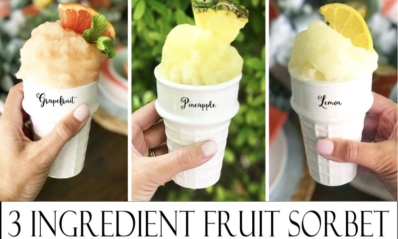 Three Ingredient Sorbet
