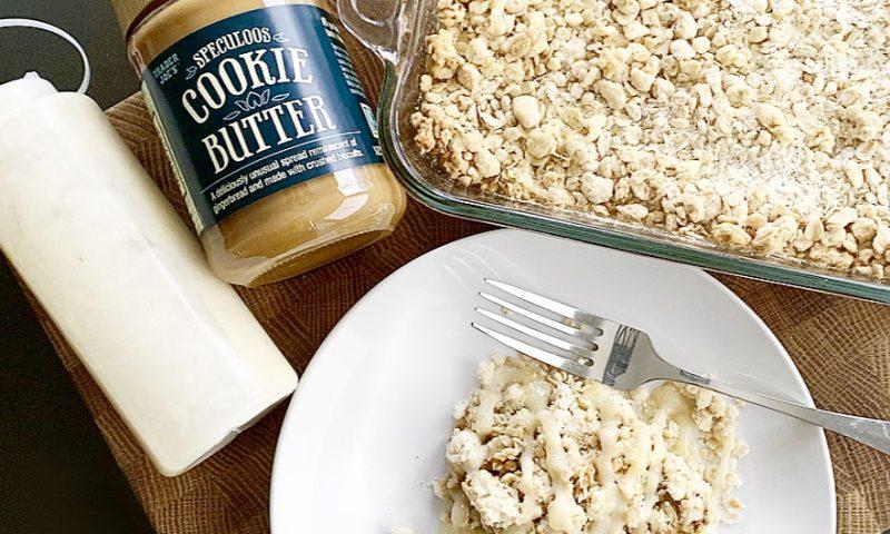 Trader Joe's Cookie Butter Oatmeal Banana Bake