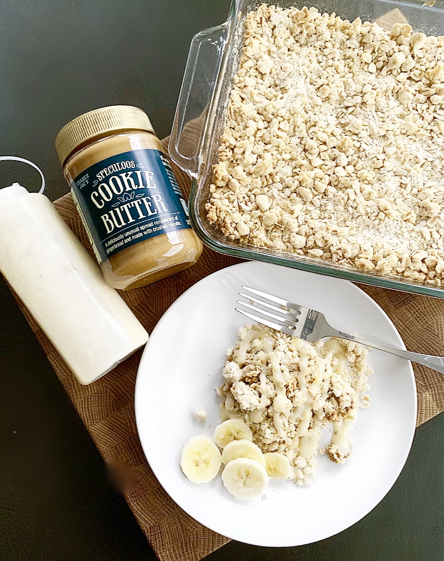 cookie butter oatmeal bake