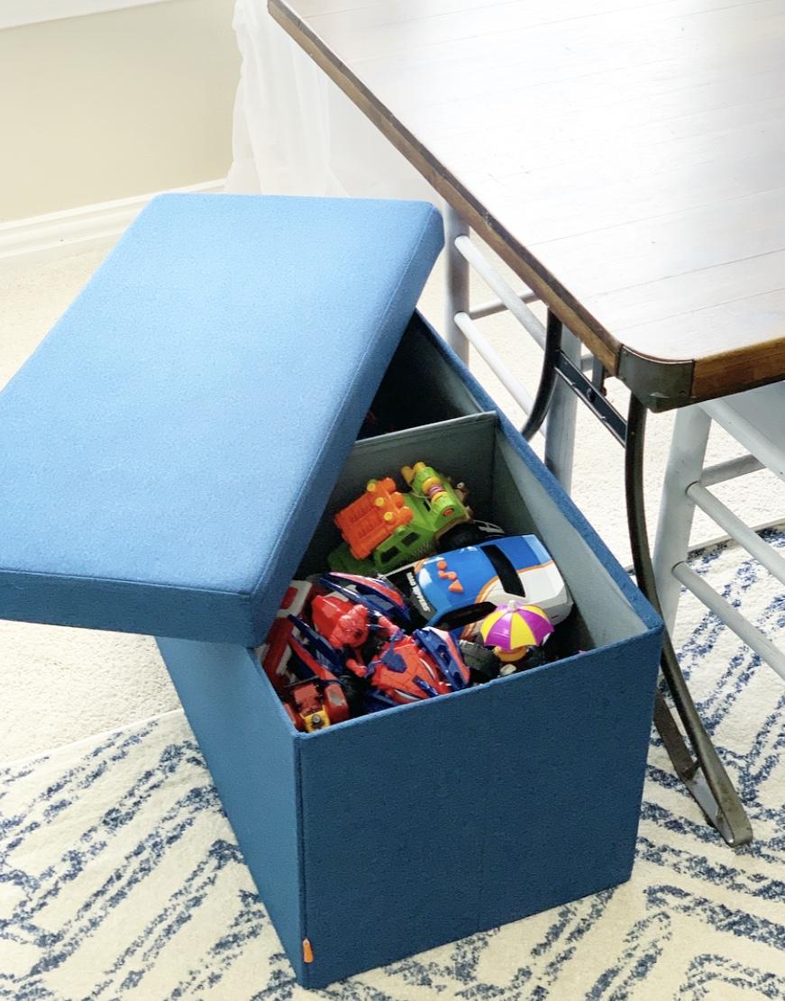 Playroom Storage Bench Crisp Collective