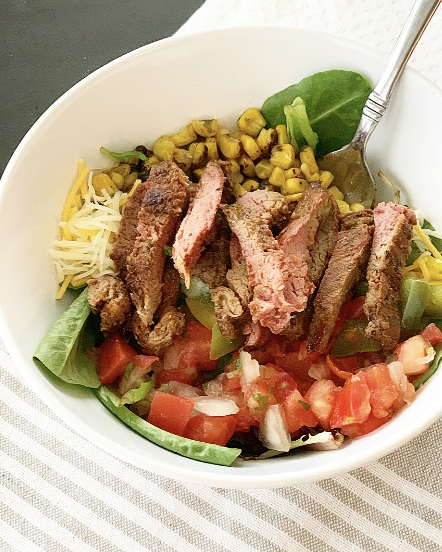 Trader Joe's carne asada salad