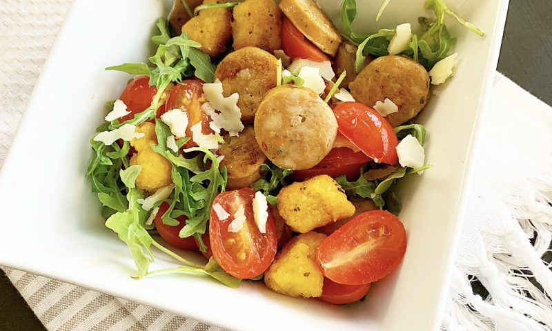 Trader Joe's Sweet Potato Gnocchi and Sausage Salad