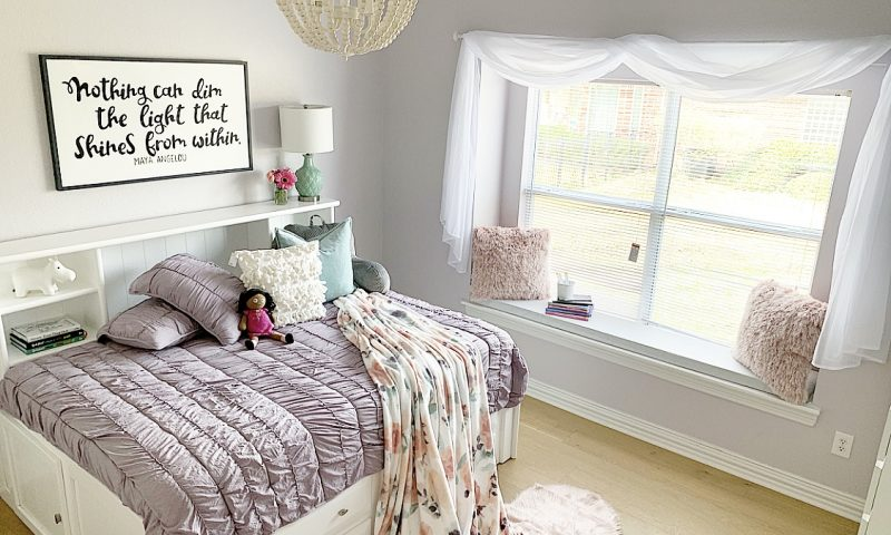 Girl Bedroom Reveal #1: Pink, Purple and Floral