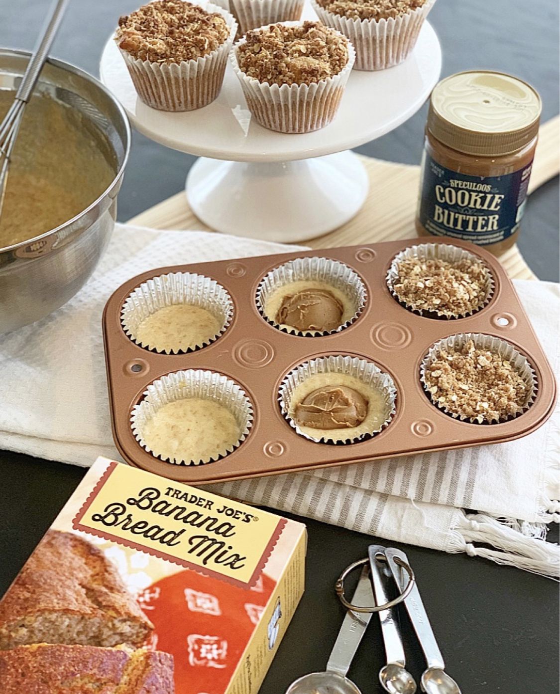 Cookie butter banana muffins