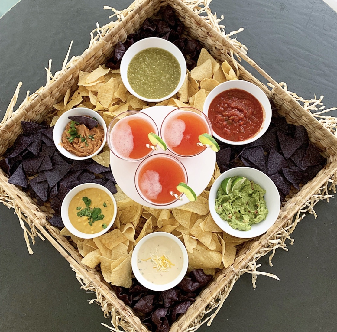 chips and dips tray